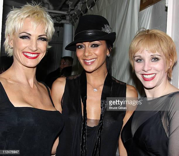 AmraFaye Wright Pussycat Dolls lead singer Nicole Scherzinger and Charlotte d'Amboise backstage at 'Chicago' on Broadway at The Ambassador Theater on...