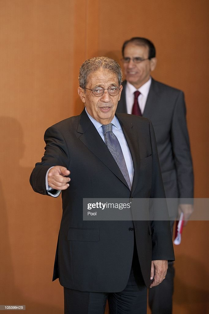 Amre Moussa, Secretary General of the League of Arab States, poses prior to a meeting with Chancellor Angela Merkel at the Chancellery (Bundeskanzleramt) on October 14, 2010 in Berlin, Germany.