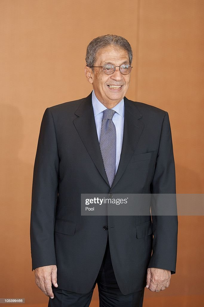 Amre Moussa, Secretary General of the League of Arab States, smiles prior to a meeting with Chancellor Angela Merkel at the Chancellery (Bundeskanzleramt) on October 14, 2010 in Berlin, Germany.