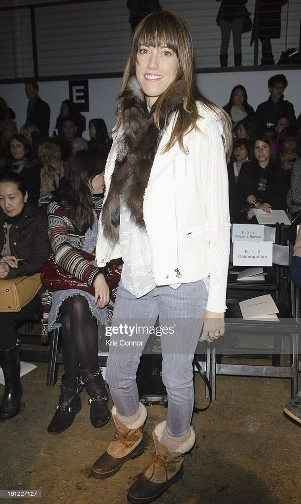 Amri Ryan Kibbler poses for a photo during the Rebecca Taylor Fall 2013 show during Mercedes-Benz Fashion Week at Highline Stages on February 9, 2013 in New York City.