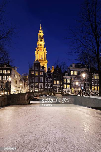 Amsterdam by night in the winter