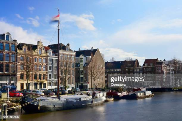 Amsterdam Canal and Cityscape, Netherlands