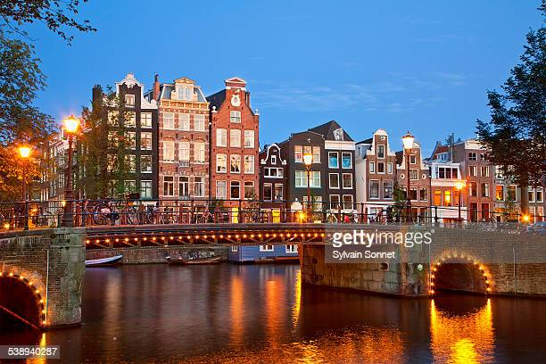 Amsterdam, canal at dusk