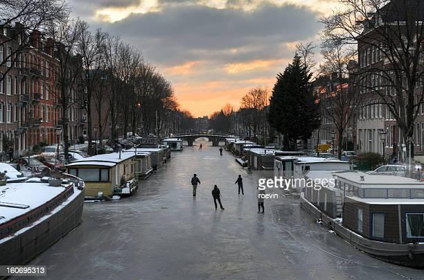 Amsterdam Canal Ice Skating