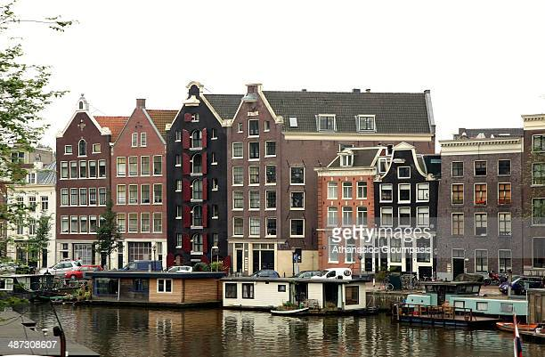 Amsterdam canals in summer on August 6 2011 in Amsterdam capital city Netherland