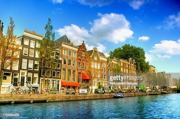 Amsterdam City Scene Water Canal