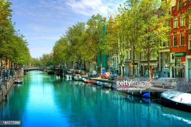 Amsterdam Kanal-Szene-Stadt