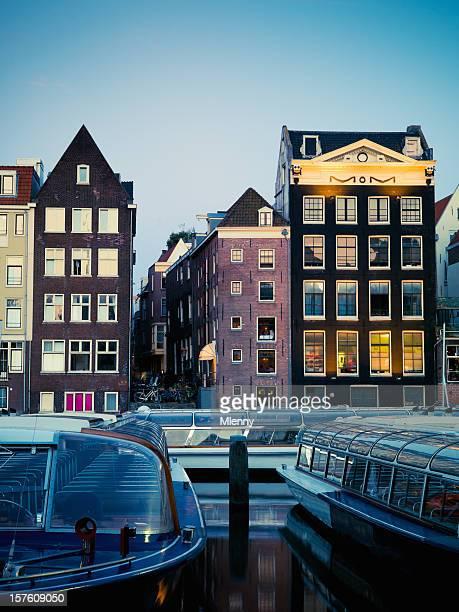 Twilight scène ville d'Amsterdam
