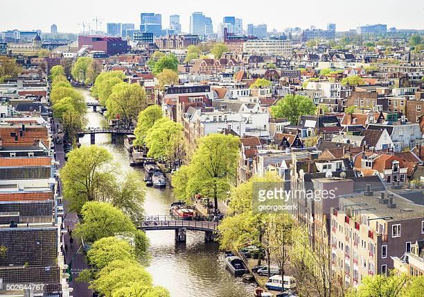 アムステルダムの街の眺め