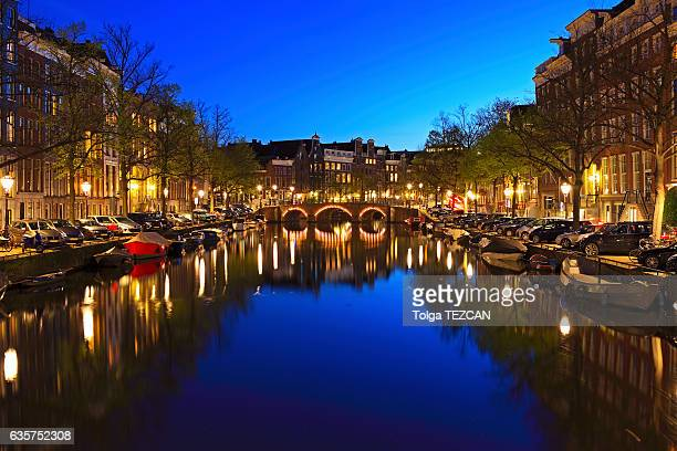 Amsterdam, Cityscape at Dusk