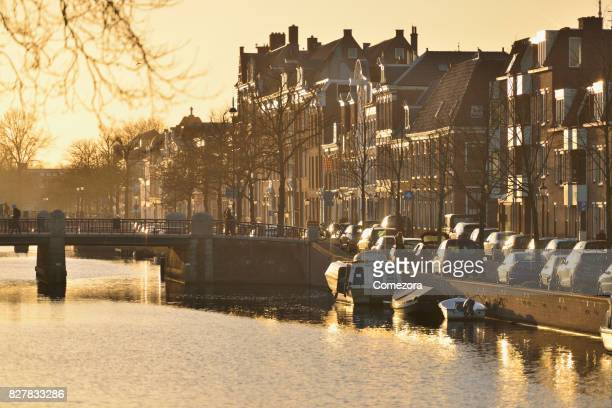 Amsterdam Cityscape at Sunset, Netherlands