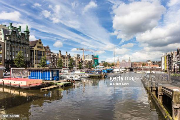 Amsterdam cityscape toward the Centraal train station