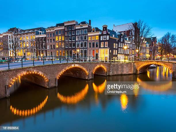 Amsterdam Dusk Canal Scene, Netherlands
