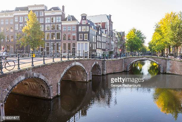 Amsterdam houses and bridges