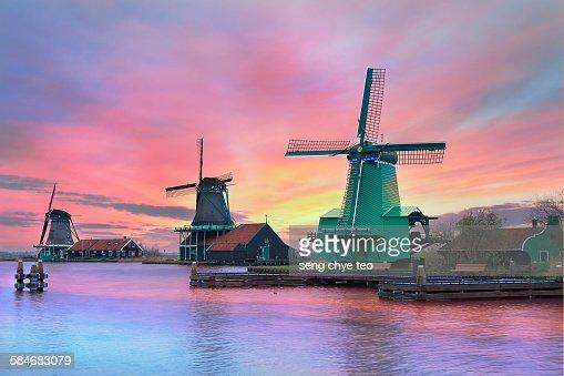 Amsterdam iconic windmill