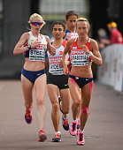 Amsterdam Netherlands 10 July 2016 Gemma Steel left of Great Britain and Eva VrabcovaNyvltova of the Czech Republic in action during the Women's Half...