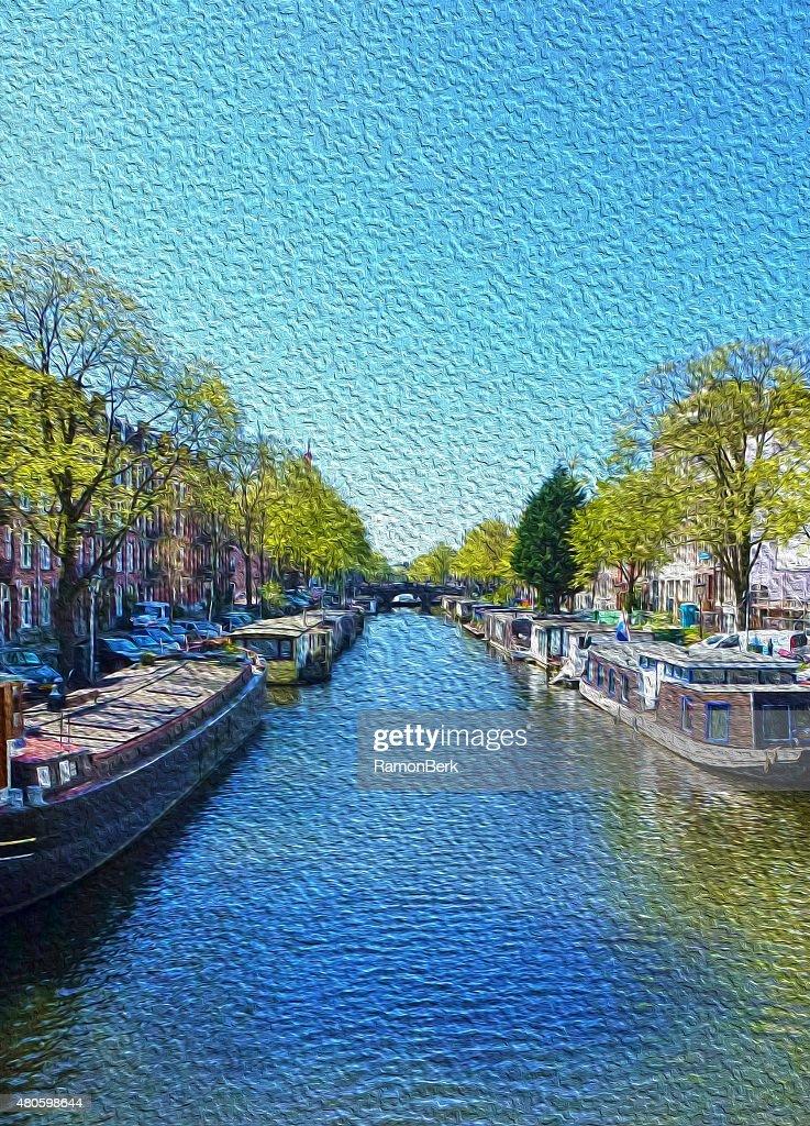 amsterdam scene : Stock Photo