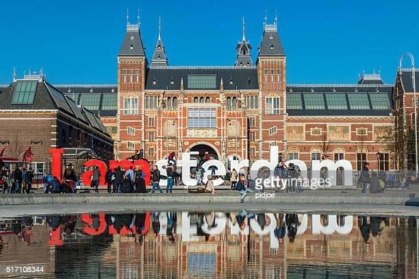 I amsterdam-im Museumplein, Rijksmuseum auf der Rückseite