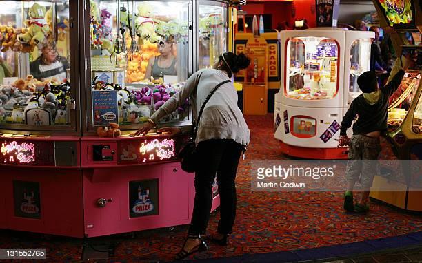 Amusement Arcade in the Skyline Pavilion Butlins holiday camp Bognor Regis 21st April 2009