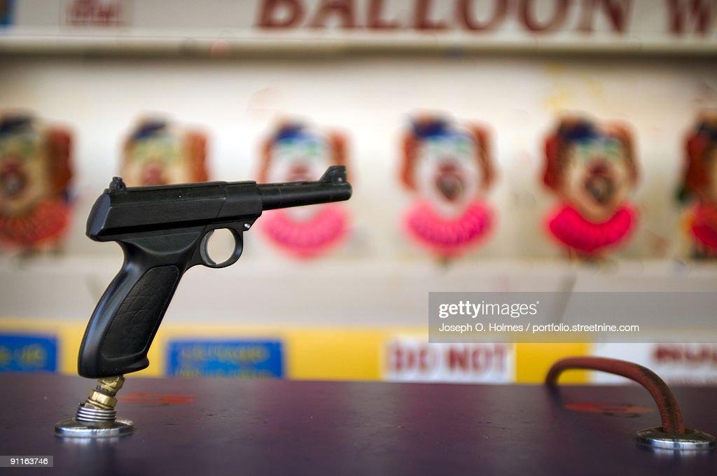 Amusement Park Shooting Game : Stock Photo