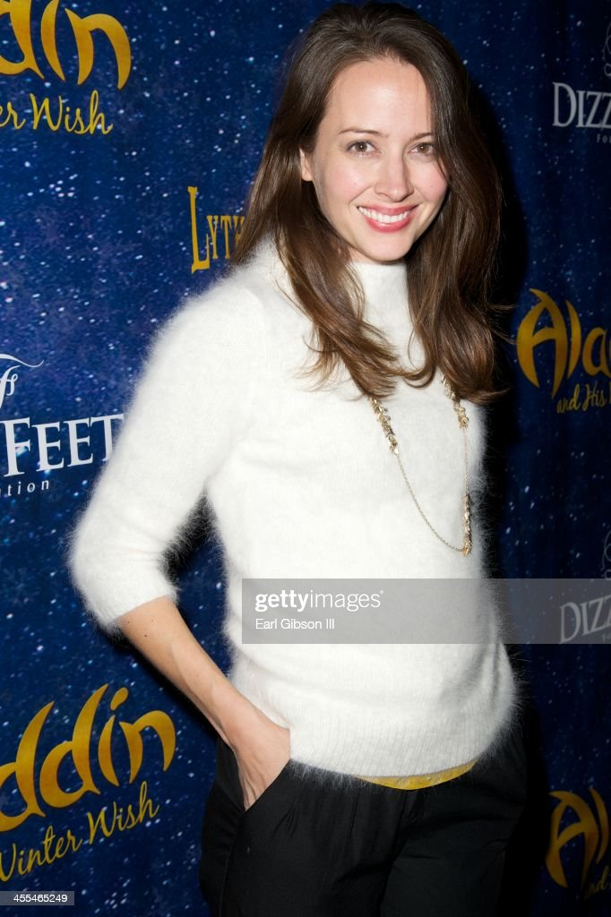 <a gi-track='captionPersonalityLinkClicked' href=/galleries/search?phrase=Amy+Acker&family=editorial&specificpeople=715944 ng-click='$event.stopPropagation()'>Amy Acker</a> attends 'Aladdin And His Winter Wish' Opening Night at Pasadena Playhouse on December 11, 2013 in Pasadena, California.