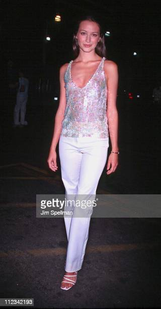 Amy Acker during 2001 WB Television Network Uprfront AllStar Party at The light House Chelsea Piers Pier 61 in New York City New York United States