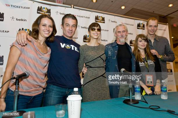 Amy Acker James Marsters Juliet Landau Camden Toy Amber Benson and Doug Jones attend Wizard World Chicago Comic Con 2012 at Donald E Stephens...