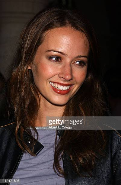 Amy Acker of 'Angel' during KTLA and The WB Host Wednesday Season Premiere Party for 'Angel' and 'Smallville' at The Grove in Los Angeles California...