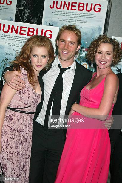 Amy Adams Alessandro Nivola and Embeth Davidtz during 'Junebug' New York City Premiere Inside Arrivals at Loews 19th Street in New York City New York...