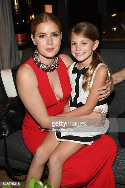 Amy Adams and Abigail Pniowsky attend postscreening event for 'Arrival' cohosted by Audi during the Toronto International Film Festival at Storys...