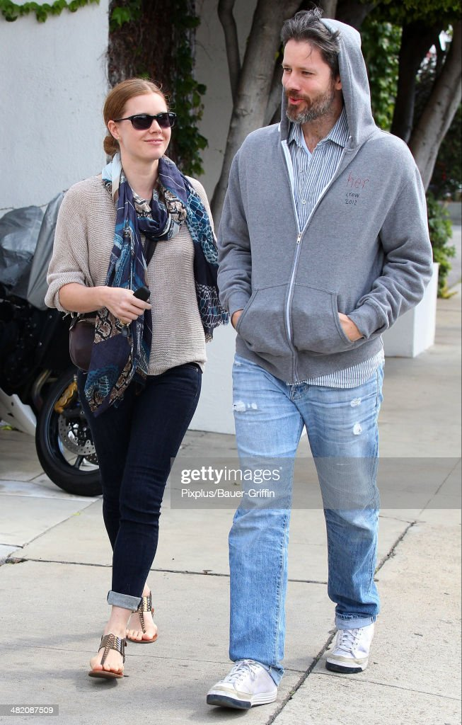 Amy Adams and Darren Le Gallo are seen on April 02, 2014 in Los Angeles, California.