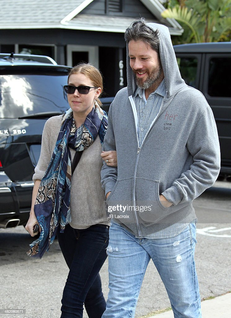 Amy Adams and Darren Le Gallo are seen shopping on April 2, 2014 in Los Angeles, California.
