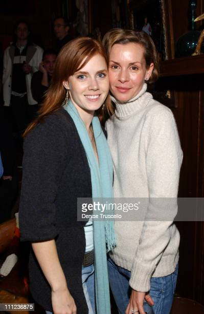 Amy Adams and Embeth Davidtz during 2005 Park City 'Junebug' Cocktail Party at Levi's Ranch in Park City Utah United States