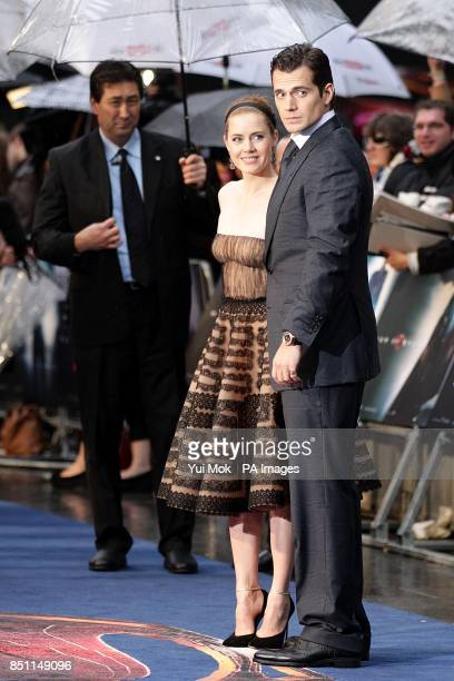 Amy Adams and Henry Cavill arriving for the European premiere of Man of Steel at the Odeon Leicester Square London