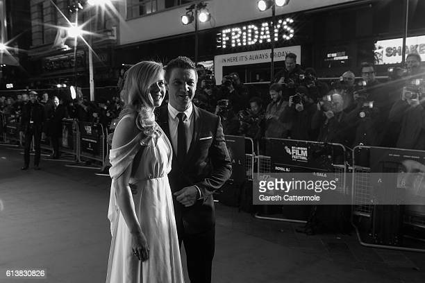 Amy Adams and Jeremy Renner attend the 'Arrival' Royal Bank Of Canada Gala screening during the 60th BFI London Film Festival at Odeon Leicester...