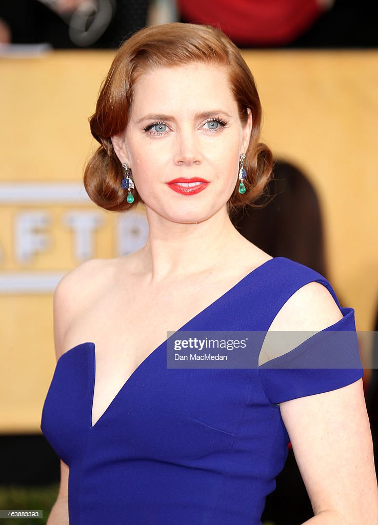 Amy Adams arrives at the 20th Annual Screen Actors Guild Awards at the Shrine Auditorium on January 18, 2014 in Los Angeles, California.