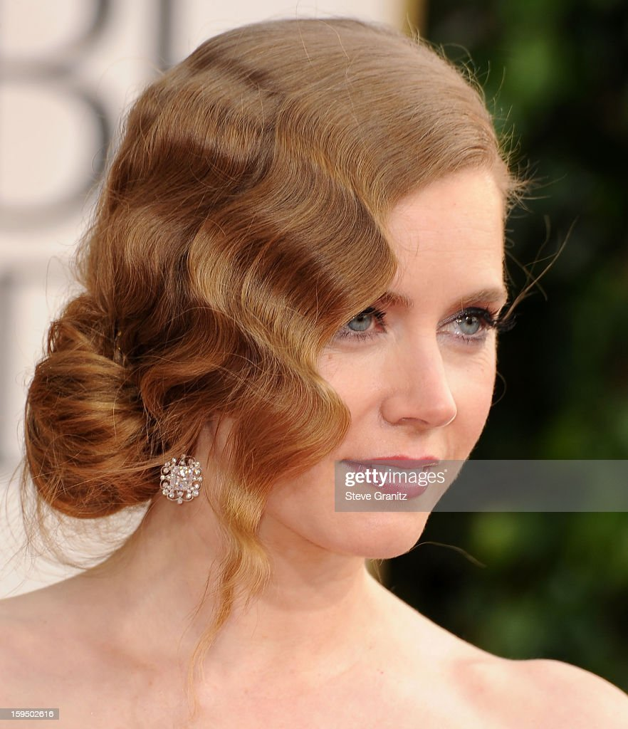 Amy Adams arrives at the 70th Annual Golden Globe Awards at The Beverly Hilton Hotel on January 13 2013 in Beverly Hills California
