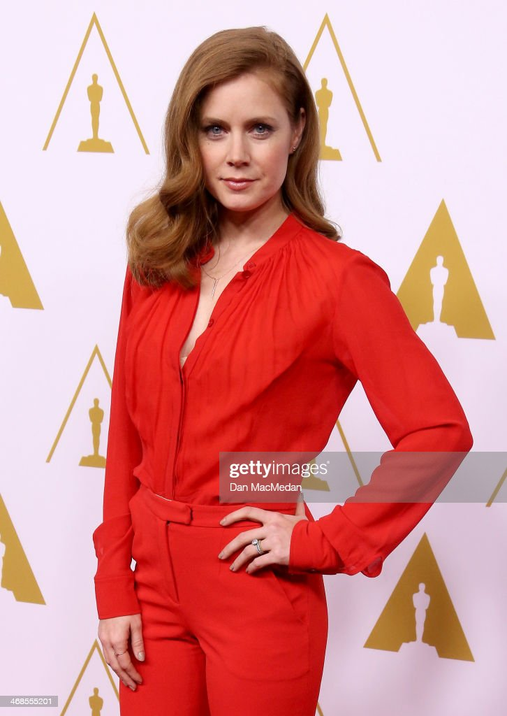 Amy Adams arrives at the 86th Oscars Nominees Luncheon at the Beverly Hilton Hotel on February 10 2014 in Beverly Hills California