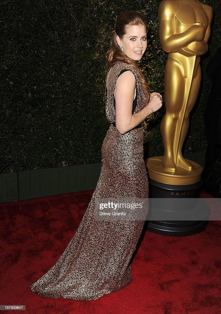 <a gi-track='captionPersonalityLinkClicked' href=/galleries/search?phrase=Amy+Adams&family=editorial&specificpeople=213938 ng-click='$event.stopPropagation()'>Amy Adams</a> arrives at the The Academy Of Motion Pictures Arts And Sciences' Governors Awards at The Ray Dolby Ballroom at Hollywood & Highland Center on December 1, 2012 in Hollywood, California.