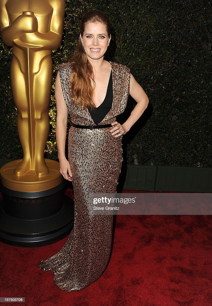 Amy Adams arrives at the The Academy Of Motion Pictures Arts And Sciences' Governors Awards at The Ray Dolby Ballroom at Hollywood & Highland Center on December 1, 2012 in Hollywood, California.