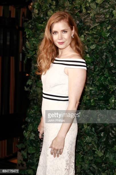 Amy Adams attends a pre BAFTA party hosted by Charles Finch and Chanel at Annabel's on February 11 2017 in London England