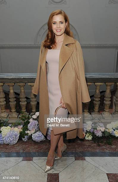 Amy Adams attends a private dinner to celebrate the opening of the new Max Mara London Flagship store at the Royal Academy of Arts on May 20 2015 in...