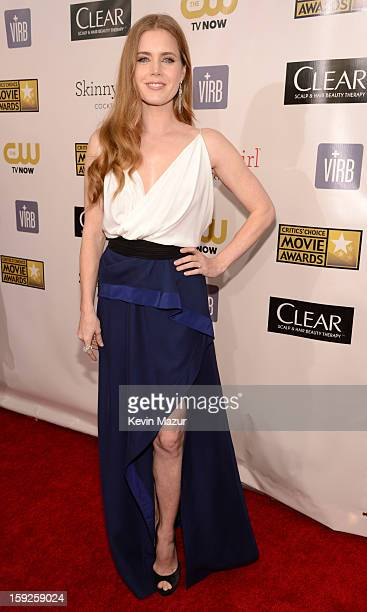 Amy Adams attends the 18th Annual Critics' Choice Movie Awards at The Barker Hanger on January 10 2013 in Santa Monica California