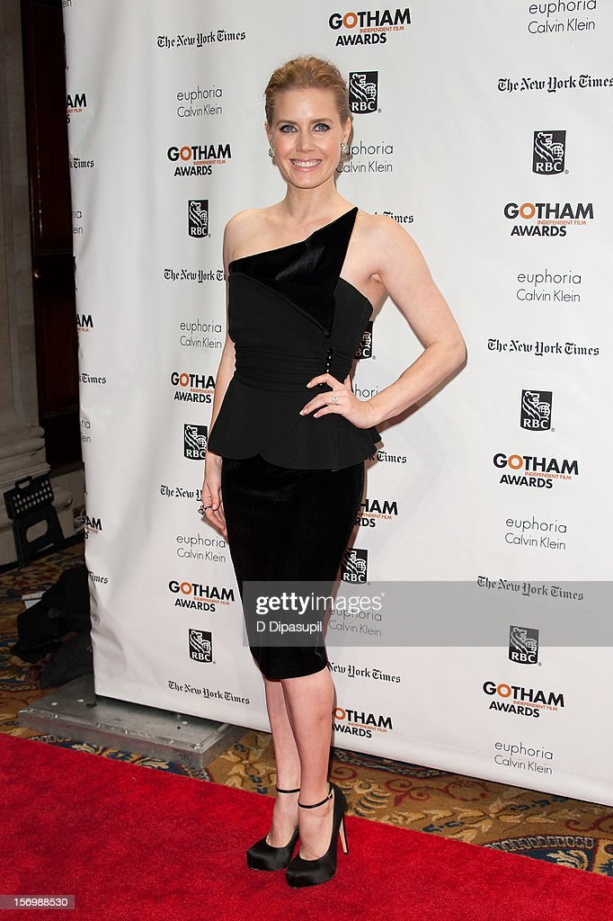 <a gi-track='captionPersonalityLinkClicked' href=/galleries/search?phrase=Amy+Adams&family=editorial&specificpeople=213938 ng-click='$event.stopPropagation()'>Amy Adams</a> attends the 22nd annual Gotham Independent Film awards at Cipriani, Wall Street on November 26, 2012 in New York City.