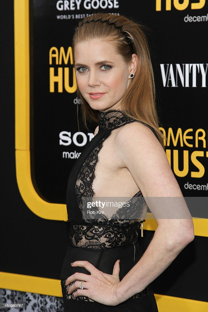 Amy Adams attends the 'American Hustle' screening at Ziegfeld Theater on December 8, 2013 in New York City.