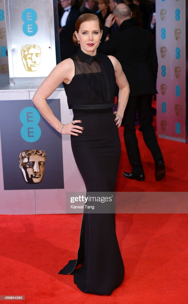 <a gi-track='captionPersonalityLinkClicked' href=/galleries/search?phrase=Amy+Adams&family=editorial&specificpeople=213938 ng-click='$event.stopPropagation()'>Amy Adams</a> attends the EE British Academy Film Awards 2014 at The Royal Opera House on February 16, 2014 in London, England.
