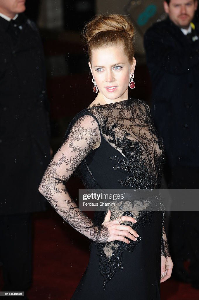 Amy Adams attends the EE British Academy Film Awards at The Royal Opera House on February 10, 2013 in London, England.