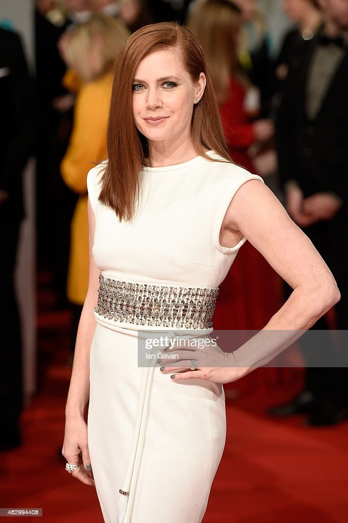 <a gi-track='captionPersonalityLinkClicked' href=/galleries/search?phrase=Amy+Adams&family=editorial&specificpeople=213938 ng-click='$event.stopPropagation()'>Amy Adams</a> attends the EE British Academy Film Awards at The Royal Opera House on February 8, 2015 in London, England.