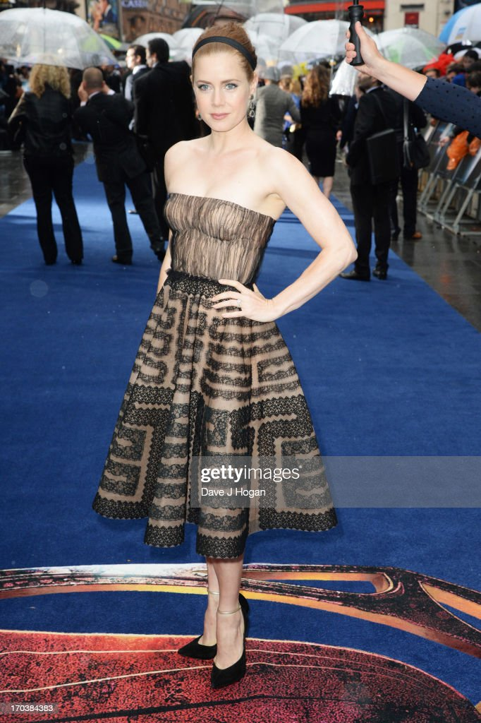 <a gi-track='captionPersonalityLinkClicked' href=/galleries/search?phrase=Amy+Adams&family=editorial&specificpeople=213938 ng-click='$event.stopPropagation()'>Amy Adams</a> attends the European premiere of 'Man Of Steel' at The Empire Leicester Square on June 12, 2013 in London, England.