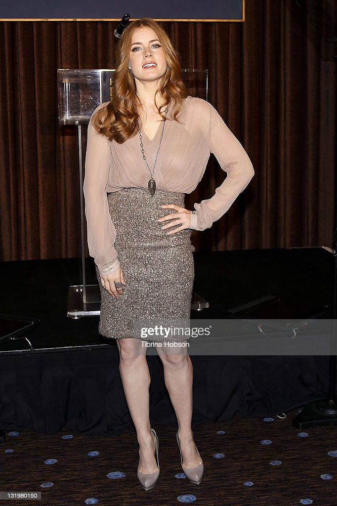 <a gi-track='captionPersonalityLinkClicked' href=/galleries/search?phrase=Amy+Adams&family=editorial&specificpeople=213938 ng-click='$event.stopPropagation()'>Amy Adams</a> attends the Hollywood Foreign Press Association's Cecil B. DeMille Award recipient announcement at The Beverly Hilton hotel on November 9, 2011 in Beverly Hills, California.
